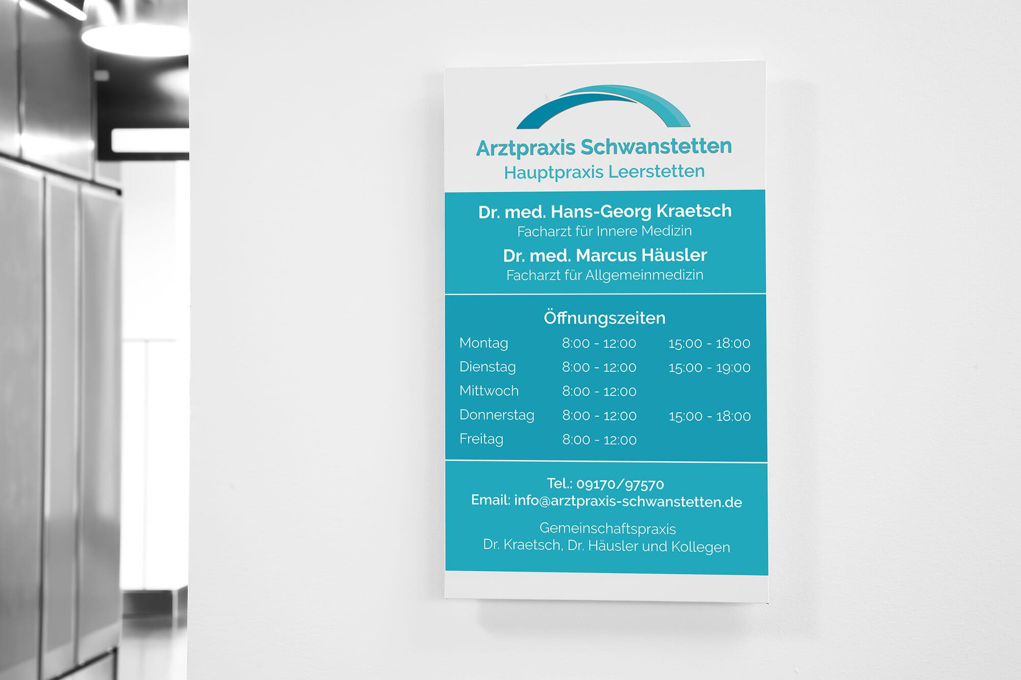 Arztpraxis Schwanstetten - Grafikdesign Schwabach - Sowiesodesign